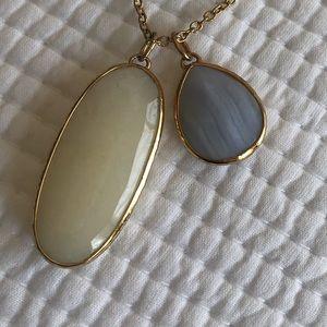 Stella & Dot Gold Necklace w/ Multiple Pendants